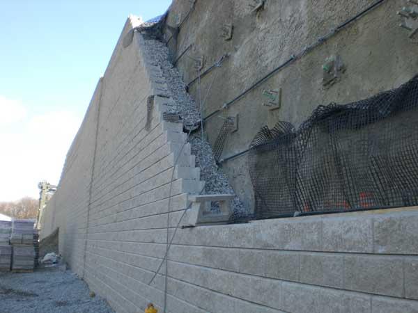Retaining wall project csx intermodal facility for Soil nail wall